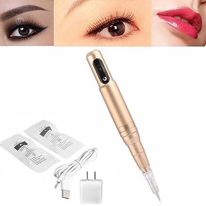 Cejas adhesivo eléctrica, profesional permanente Tattoo Pen Make ...