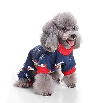 RFVBNM Mascota Ropa para Perros Navidad Papá Noel Traje de Copo de Nieve Escudo Mono Ropa para Perros pequeños Otoño Invierno Cálido Abrigo, S: Amazon.es: ...