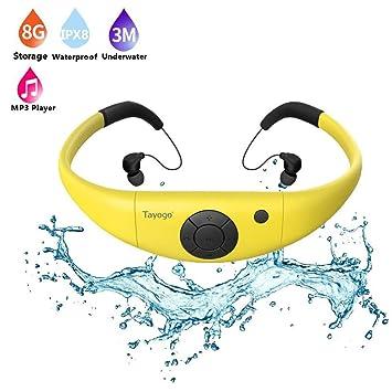 FSM88 Reproductor Mp3 a Prueba de Agua, 8GB para Auriculares de ...