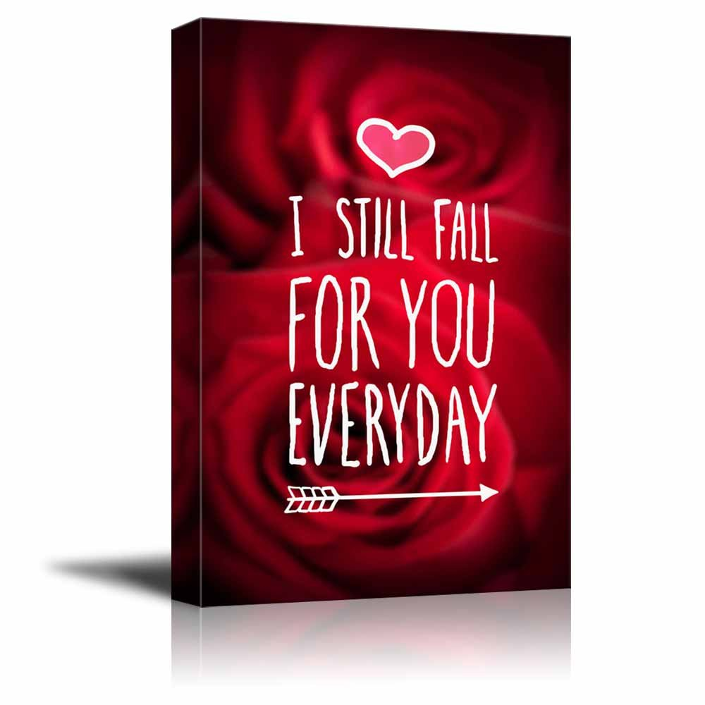 wall26 Canvas Prints Wall Art - I Still Fall for You Everyday Valentine Concept | Modern Wall Decor - 12'' x 18'' by wall26