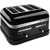 KitchenAid KMT4203OB Onyx Black 4-Slice Pro Line Toaster