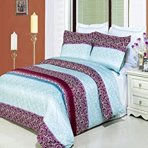Kimberly 4pc Full / Queen Comforter Set 100 % Egyptian Cotton 300 Thread Count by Royal Hotel