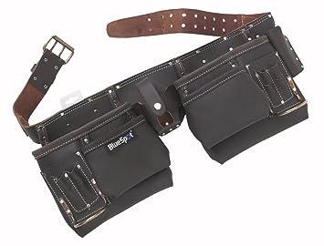 Blue Spot 16335 - Cinturón de herramientas (piel curtida, 2 martillos)