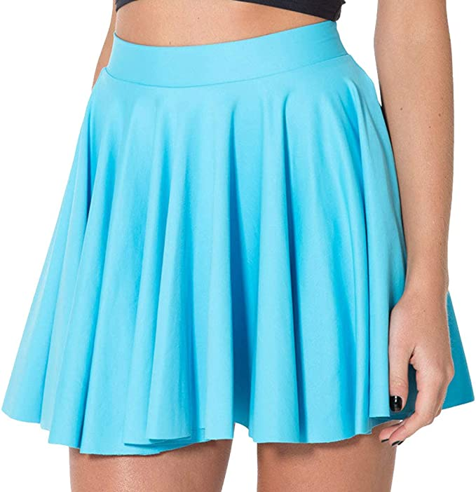 Mxssi Faldas Mujeres Mate Light Blue Cheerleader Sexy Falda ...