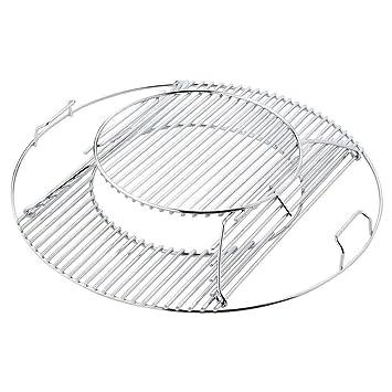 Repuesto para barbacoas Weber 8835, se ajusta a la parrilla Gourmet de acero inoxidable Weber de 57 cm, sistema con bisagras, de Bar.BQS