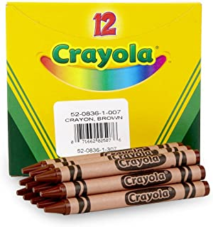 product image for Crayola Crayons in Brown, Bulk Crayons, 12 Count