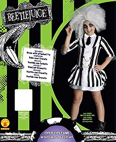 Amazon Com Rubie S Girls Beetlejuice Costume Toys Games