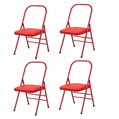 Amazon.com: QQXX Folding Chairs CJC Reinforced Yoga Chair ...