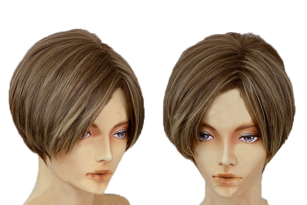 Amazon Xcoser Resident Cosplay Evil Leon Kennedy Short Brown