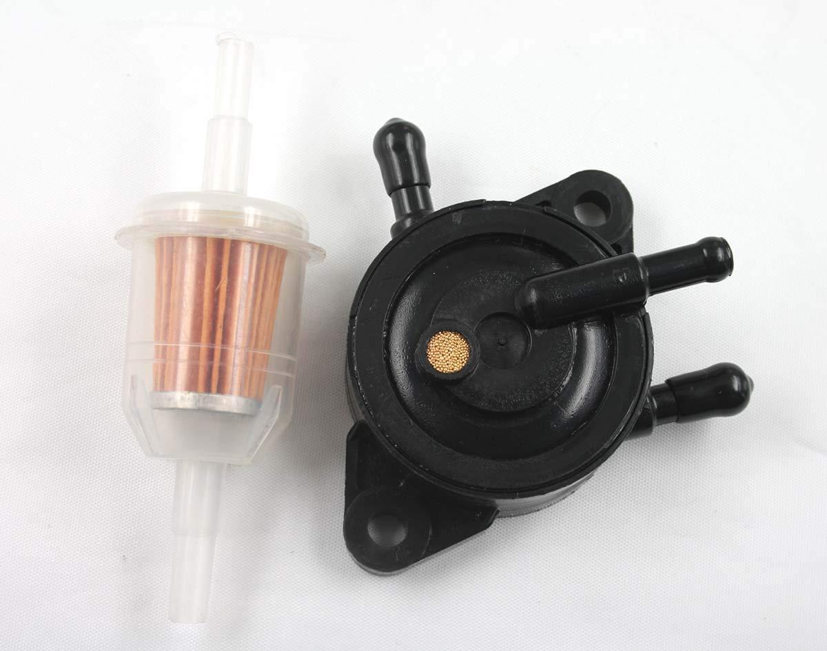 Amazon.com : MOTOKU Gas Vacuum Fuel Pump for Kohler 17HP-25 HP Small Engine  Lawn Mower Tractor Briggs & Stratton John Deere Honda Yamaha W/Fuel Filter  ...