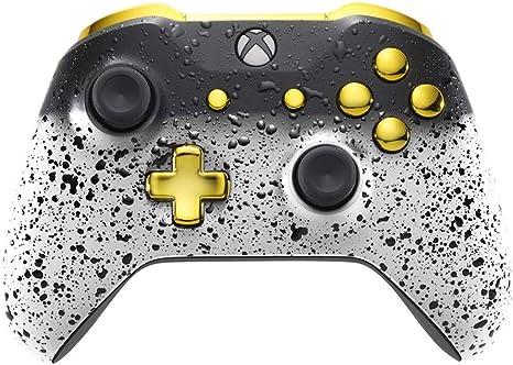 Xbox One Controller - 3D White Shadow & Gold (xbox_one/) [Importación inglesa]: Amazon.es: Videojuegos