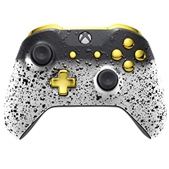 Xbox One Controller - 3D White Shadow and Gold: Amazon co uk: PC