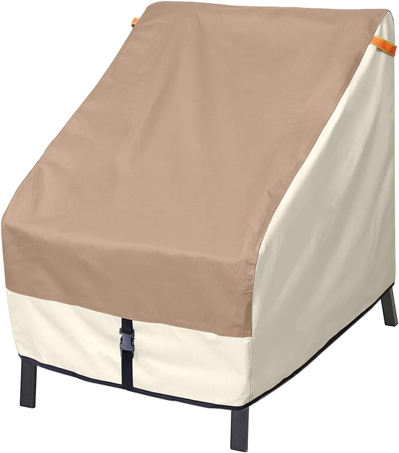 Porch Shield Patio Chair Covers - Waterproof Outdoor Standard Dining Chair Cover - 26W x 28D x 28H inch, Light Tan & Khaki