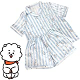 Bangtan Boys BTS BT21 Pajamas Sleepwear Set Summer Top and Pants Causal Sleep Suits SUGA JIN Jimin V JUNG KOOK J-Hope Nightclothes