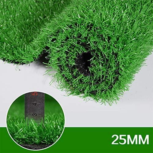 人工芝屋外緑 25ミリメートルグラスカーペットパイル高人工芝、3ピース屋外リアルグリーン装飾合成、安い探しアストロガーデン芝生、高密度フェイクターフ 高密度偽の芝生犬 (Size : 2x1.5)