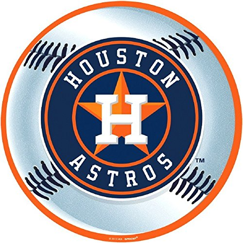 fan products of MLB Houston Astros Party Laminated Cutouts Decoration, 1 Piece, Made from Paper, Multi Color, 12