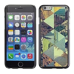 X-ray Impreso colorido protector duro espalda Funda piel de Shell para Apple iPhone 6 Plus(5.5 inches)- Checkered Summer Pattern Sky