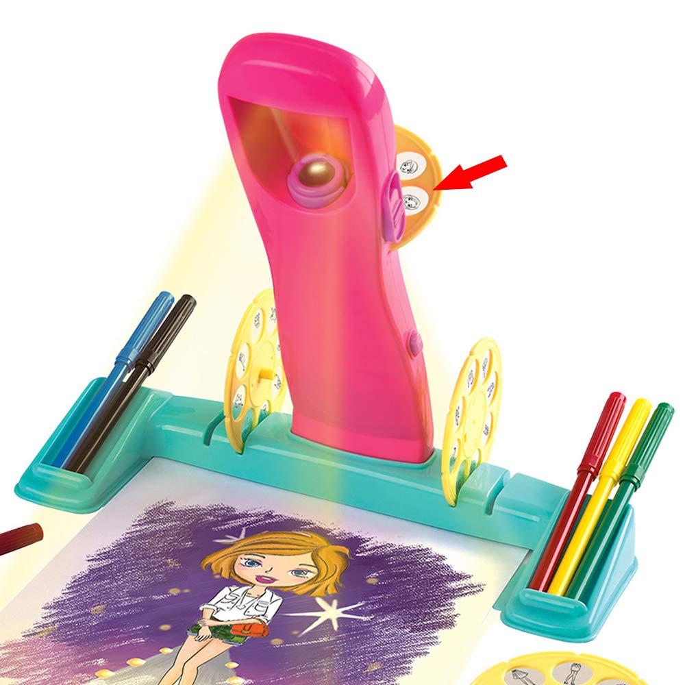 ColorBaby, 46423 Proyector el/éctrico para dibujar PlayGo