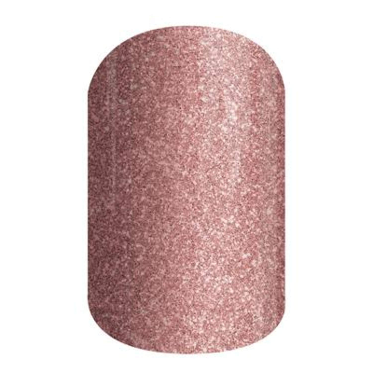 Rose Gold Sparkle - Jamberry Nail Wraps - A611 - Full Sheet by Jamberry