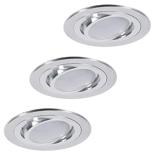 Techo de Juego | de 3 focos empotrables LED 7 W | techo foco orientable redondo