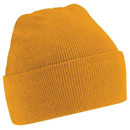 Original Gama de Beechfield sombrero de Beanie Colores Abofeteado Mostaza 36 66wqFB