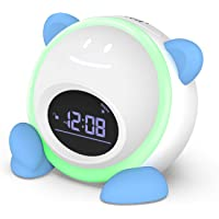 Kids Alarm Clock, Windflyer Toddlers Alarm Clock Children Sleep Trainer Clock with Facial Expressions, Night Light, Nap…
