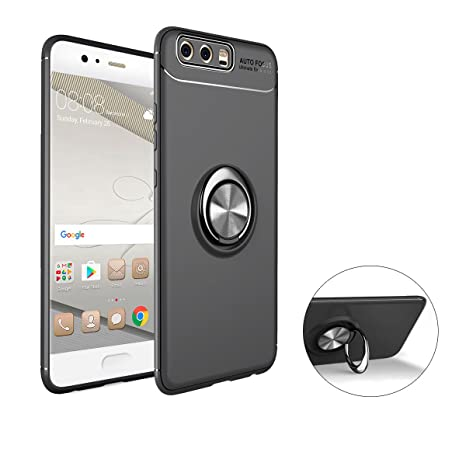 Funda Huawei P10 Case Huawei P10,SaKuLa Huawei P10 Carcasa con Slim Magnetic Car Mount Soporte giratorio 360 Degree Ring Kickstand, [Thin Fit ] Ultra ...