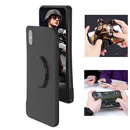 new photos 82caf dac1d Volwco Mobile Game Controller Case for iPhone X/XS, Phone Cover with BT for  PUBG L1R1 Trigger Joystick Gamepad Grip Remote
