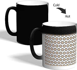 كوب القهوة السحري، بتصميم دوائر ، اسود