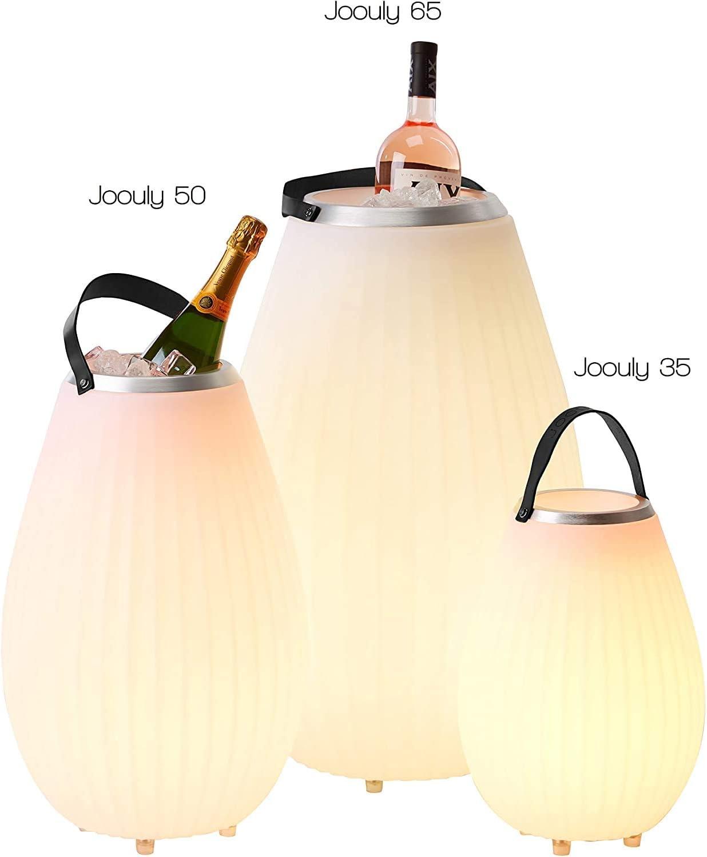 Indoor Outdoor Party Highlight f/ür Wohnzimmer Garten Terrasse Bluetooth Lautsprecher mit Multifunktionslampe und Getr/änkek/ühler The Joouly 35