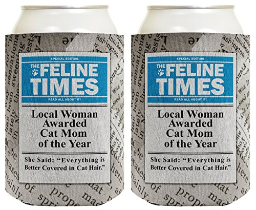 Funny Cat Gifts Local Woman Awarded Cat Mom of the Year Funny Cat Lover Gifts Cat Memes Crazy Cat Lady Gifts Rescue Cats 2 Pack Can Coolie Drink Coolers Coolies News