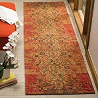 Safavieh CLV401A-28 Classic Vintage Collection Abstract Area Runner, 23 x 8 , Coral/Navy