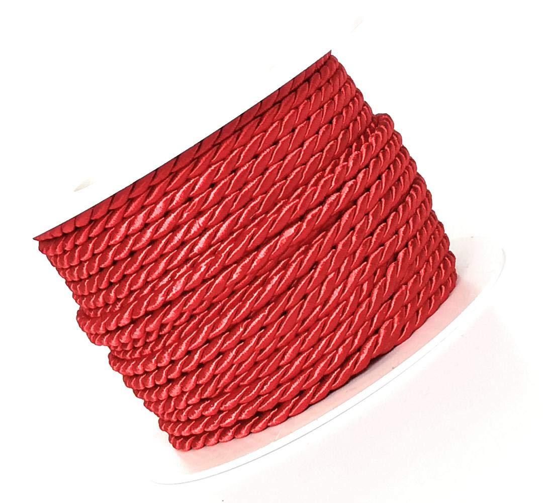 Cordino 15 m X 4 mm rosso cordino decorativo nastro fiocco Pull