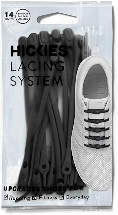 Amazon Com Hickies Tie Free Laces 2 0 New Black Shoes