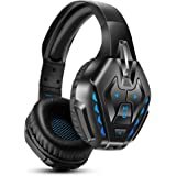 PHOINIKAS Gaming Headset for Nintendo switch, PS4, PC, xbox one Headset with 7.1 Sound, Bluetooth Wirelss Headset for…