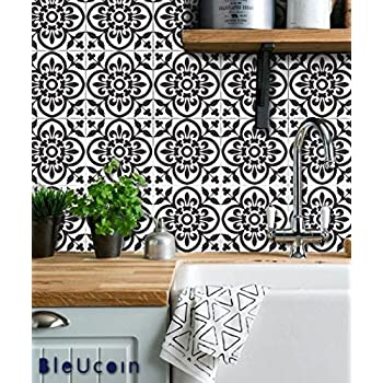 Moroccan Terracotta Tile Stickers for Kitchen and Bathroom Backsplash,  Removable Stair Riser Stickers, Peel & Stick Home Decor (Pack of 48) (6