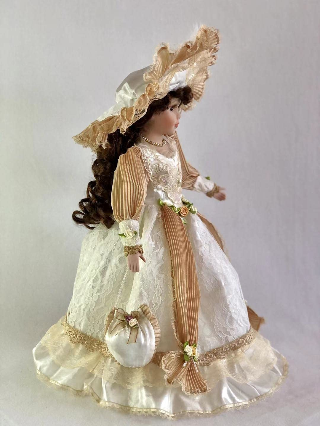 J.Misa Collection 18 Standing Victoria Doll with Stand