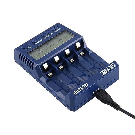 Lorenlli NC1500 Cargador de batería AA/AAA NiMH Analizador ...