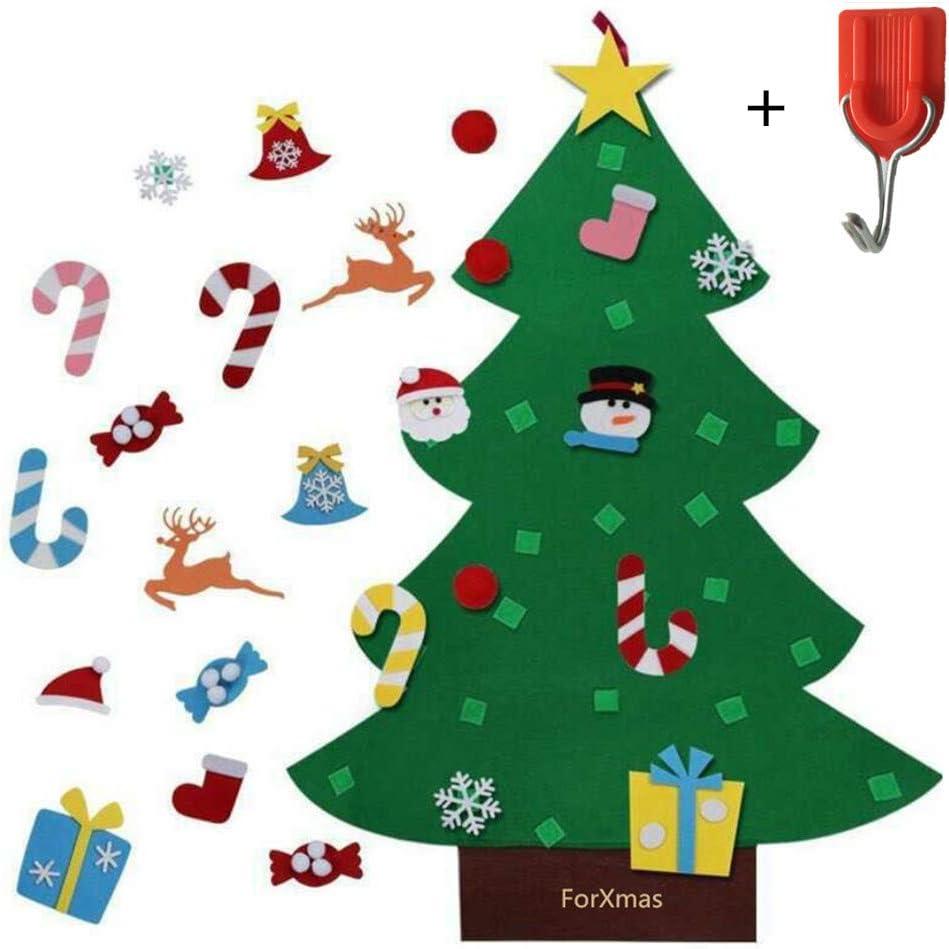 Amazon Com Forxmas Diy Felt Christmas Tree Decorations With 26pcs Christmas Decorations Wall Door Hanging Christmas Decorations Trees Decor For Kids Room Christmas Tree Toys Gifts Ideas Free Hook Home Kitchen