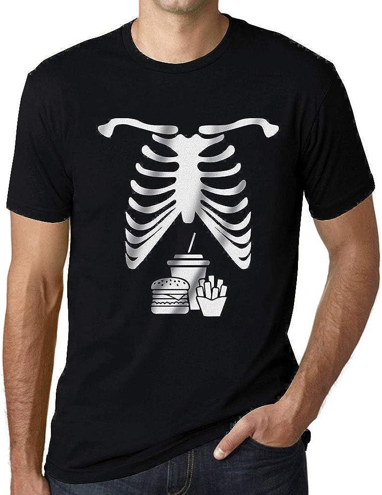Ultrabasic - Graphic Men's Skeleton Junk Food Belly Xray Tee T-Shirt