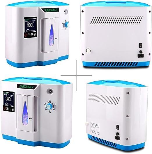 TOPQSC Portable Concentrador y generador de oxígeno 1-6L/min ...