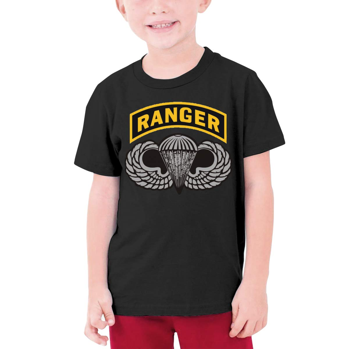 EROTEN Us Army Ranger Tab Cotton Youth T Shirts Short Sleeve for Teenager Boys Girls