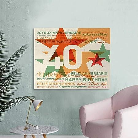 Amazon.com: Tudouhoho 40th Birthday The Office Poster Happy ...