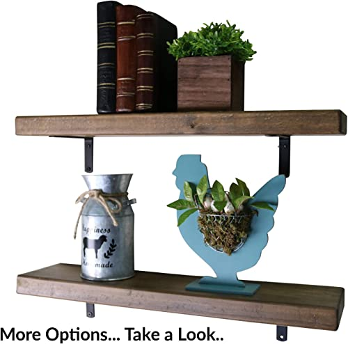 SDI Designs Rustic Farmhouse Floating Shelf Set , the Weathered Collection 36 Inch, Barnwood Brown