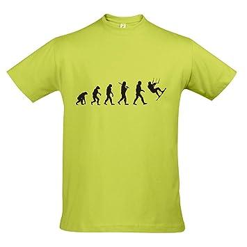 T-Shirt - EVOLUTION - Kitesurfen Sport FUN KULT SHIRT S-XXL , Apple