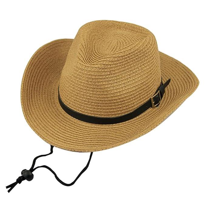 0895977147f967 Zoylink Men Cowboy Sun Hat UV Protection Beach Wide Brim Hat Cowboy Straw  Hat Western Cowboy Hat: Amazon.in: Clothing & Accessories