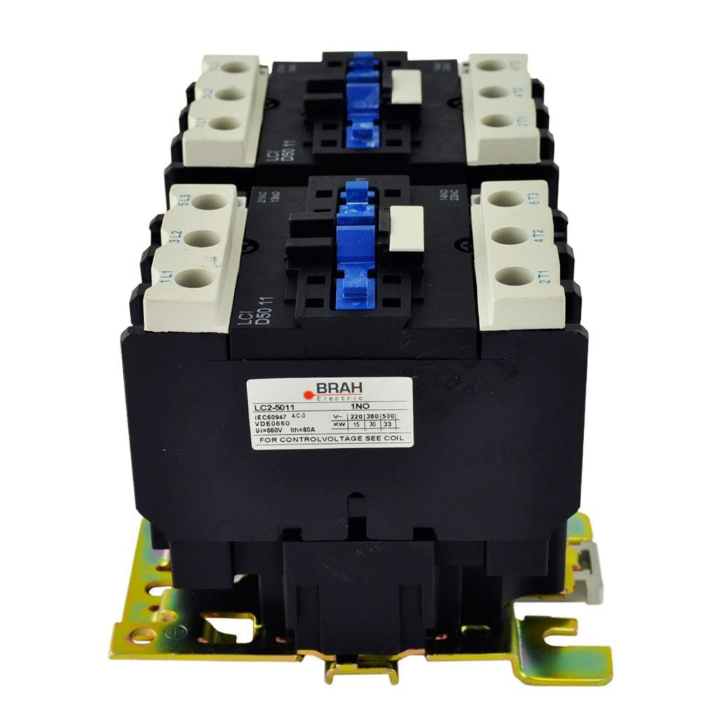 TELEMECANIQUE LC2-D50 AC Contactor LC2D50 LC2D5011-G6 120V Coil 3 Phase 3 Pole 50 Amp Direct Replacement
