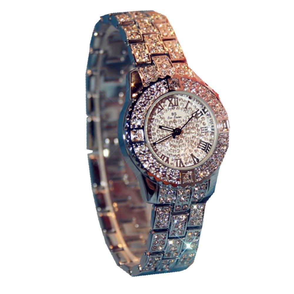 Women Luxury Full Diamond Casual Wristwatch Quartz Fashion ladies wrist watch For Work Business