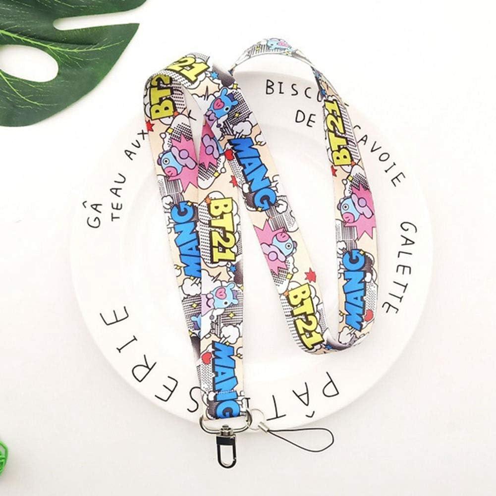 Bangtan Boys Gift Set for Army SosoJustgo2 BTS Lanyard Keychain Lanyard Id Badge Holder Neck Strap for Keys #01
