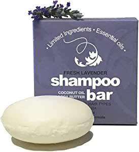Whiff Botanicals Shampoo & Shave Bar, Essential Oils, Limited Ingredients, Concentrated Formula, USA Made (Fresh Lavender)